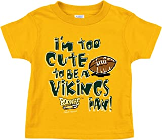 Green Bay Pro Football Fans. I'm Too Cute Gold Onesie (12M)