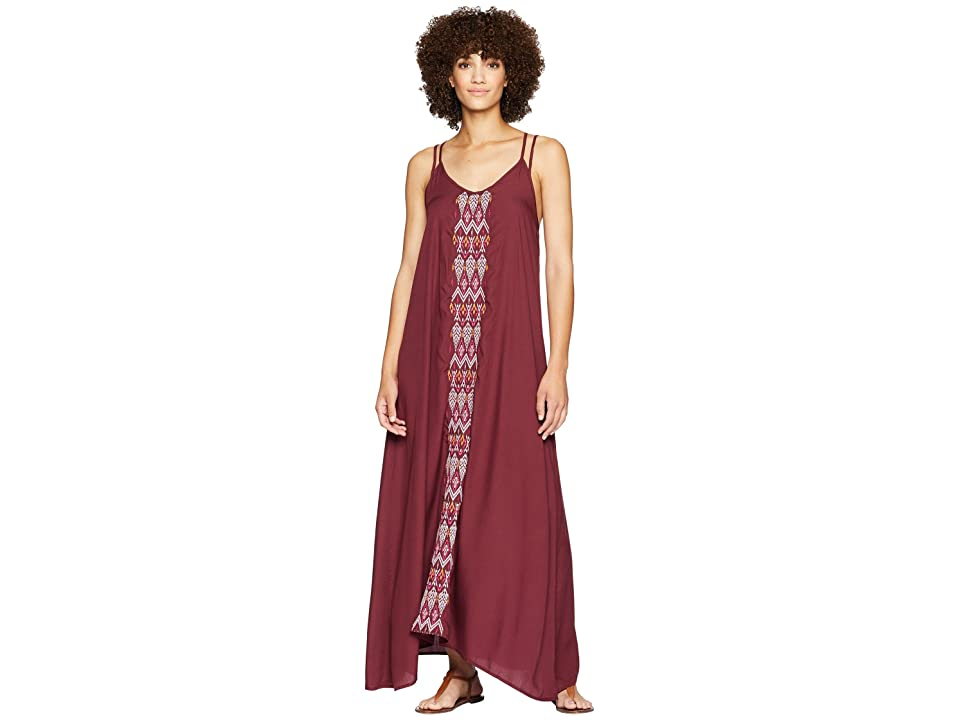 Prana Autumn Dress Cover-Up (Black Cherry) Women