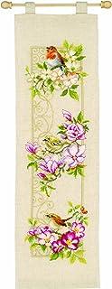 Vervaco Zählmuster Vögel auf Blütenzweigen Zählmusterpackung-Stickpackung im gezählten Kreuzstich, Baumwolle, Mehrfarbig, 15 x 60 x 0.3 cm