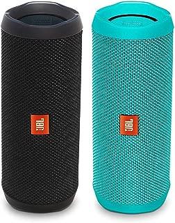 JBL Flip 4 Waterproof Bluetooth Speaker Party Pack (Black & Teal)