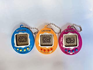 SAFSOU 3 Pieces Virtual Electronic Digital Pets Keychain Keyring Electronic Pets Nostalgic Virtual Digital Pet Retro Handh...