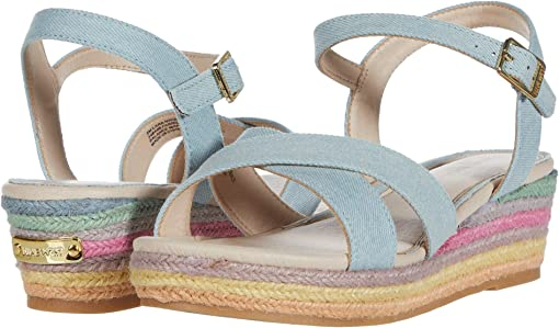 Denim Rainbow Wedge