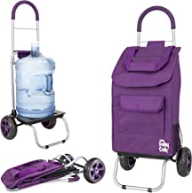 dbest products 01-068 Trolley Dolly, Purple Shopping Grocery Foldable Cart