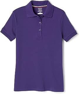 Girls' Short Sleeve Picot Collar Polo Shirt (Standard & Plus)