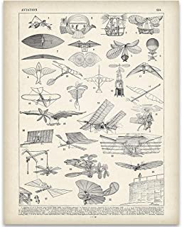 Early 1900s French Aviation Illustration - 11x14 Unframed Art Print - Great Gift Under $15 for Aviation Geeks