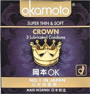 Okamoto Crown Condoms, 3 ct