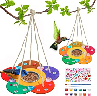 Kids Arts and Crafts Bird Feeders for Outside, 2-Pack DIY Wooden Paint Kits Outdoor Toys for Boys Girls Age 3-5 4-8 8-12