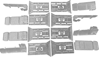 Cord Control Valance Clips (8 pack, Cord Tilt). Short Model. Hidden Clear/Opaque for 2
