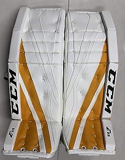"CCM New Extreme Flex E3.9 Senior Goalie Leg Pads 35""+2 Sr ice Hockey Yellow Gold"
