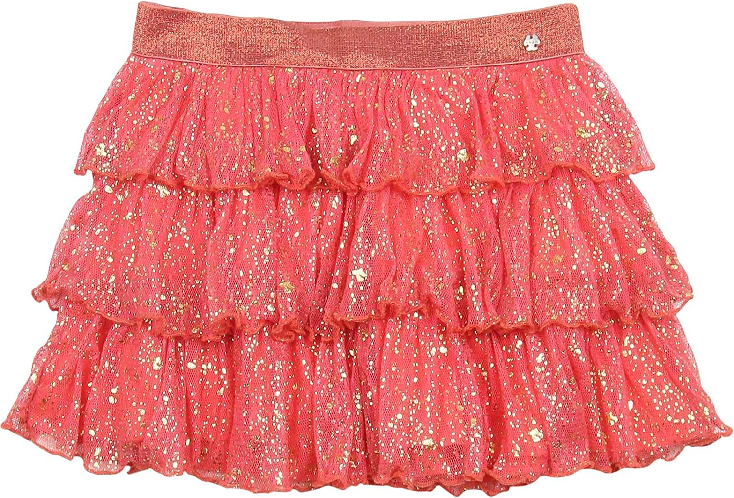 no NONO Girls Tiered Skirt 3-8 with Gold Sizes Spring new Indianapolis Mall work Print