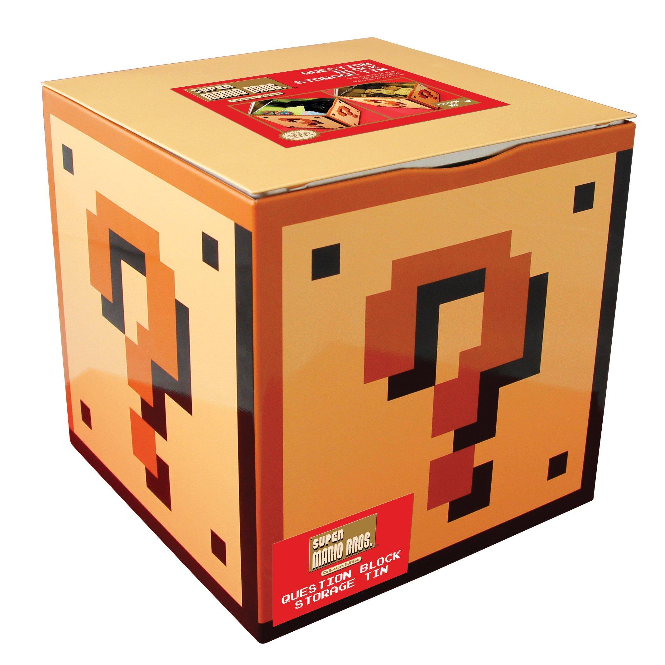 Paladone Caja Almacenaje Super Mario Bros, Metal, Amarillo, 18x18x18 cm: Amazon.es: Hogar