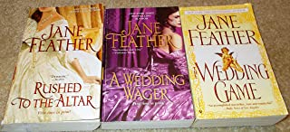 Jane Feather: 3 Book Set: Softcover:Rushed To The Altar: A Wedding Wager: Wedding Game: Very Good.