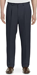 by DXL Big and Tall Waist-Relaxer Pleated Microfiber Pants- New & Improved Fit