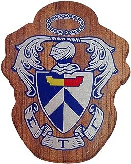 Sigma Tau Gamma Wood Crest Made of Wood for Paddle Mascot Board (1.5 Inch Tall Single Raised)