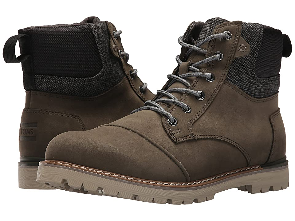 5ffe178d0b9 TOMS Ashland Waterproof Boot (Tarmac Olive Nubuck) Men s Lace-up Boots