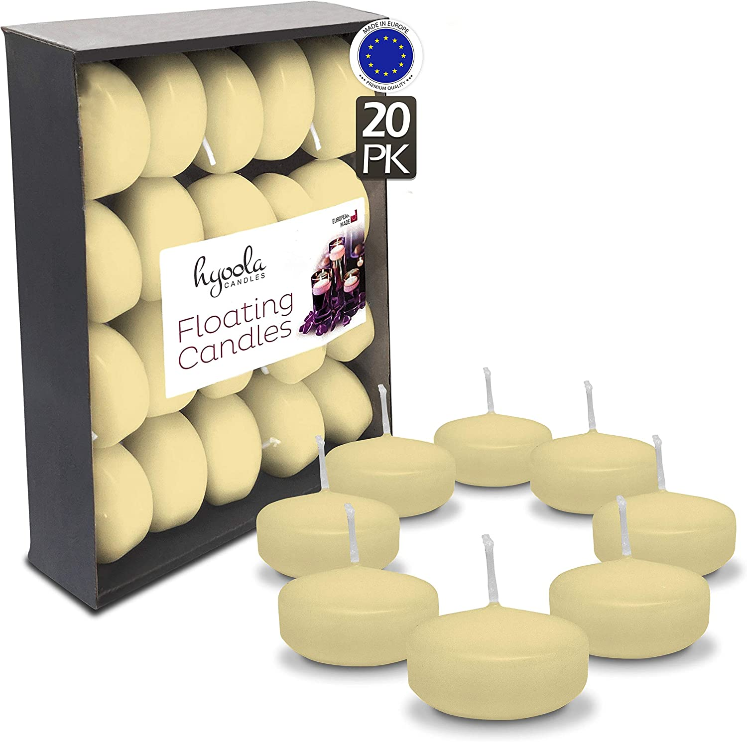 Hyoola Premium Ivory Floating Candles 2 20 Inch Credence 4 Pack Hour - Dedication