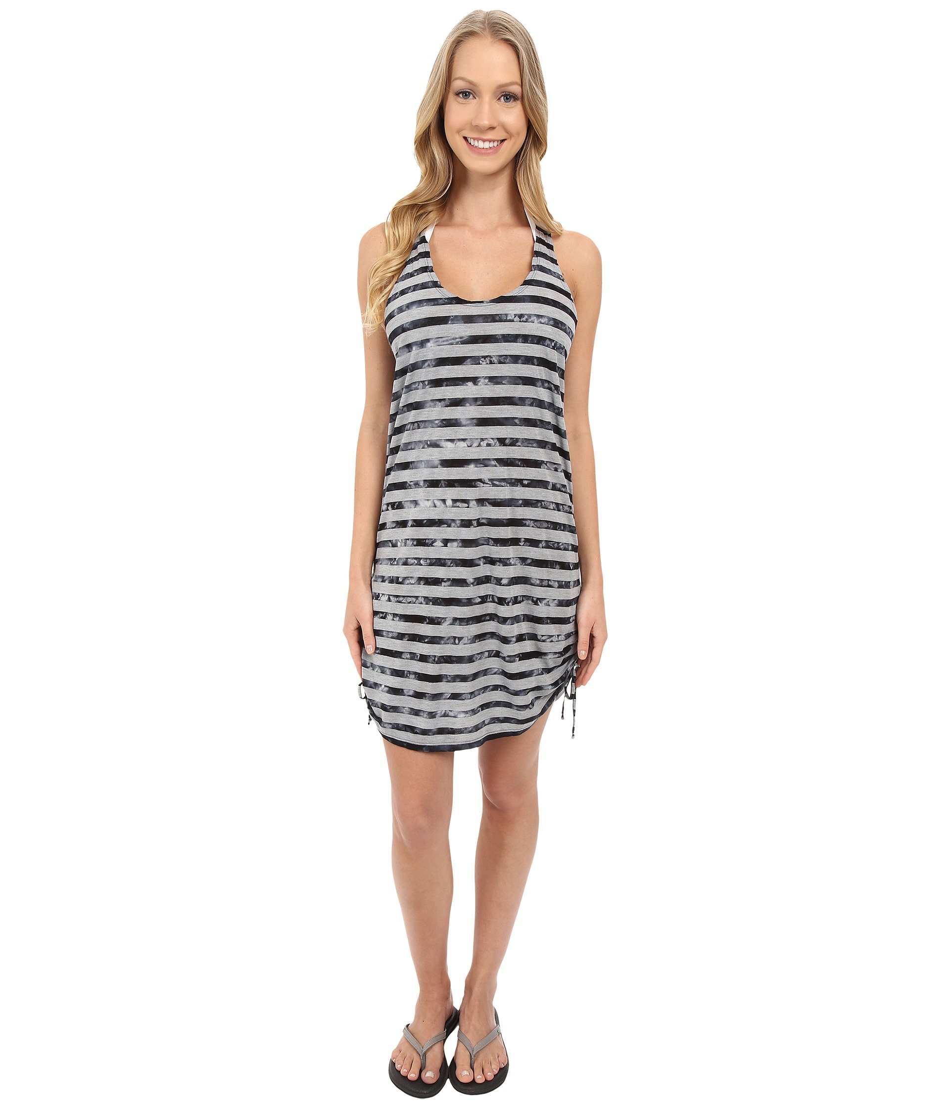 Salida de Baño para Mujer Speedo Tie-Dye Stripe Shirred t-shirt Dress Cover-Up  + Speedo en VeoyCompro.net