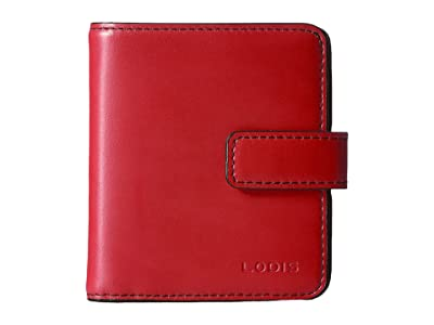 Lodis Accessories Audrey RFID Card Case Petite Wallet (Red RFID) Bi-fold Wallet