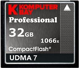 Komputerbay 32GB Professional Compact Flash Tarjeta 1066X CF Escribir 155MB/s Leer 160MB/s Velocidad Extrema UDMA 7 Raw
