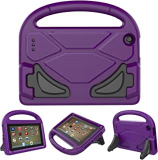 F i r e 7 2017/2015 Kids Case, Roasan Shockproof Protection Stable Stand Super Light Weight Durable Material F i r e 7 inch Display (7th Gen/5th Gen) (Purple)