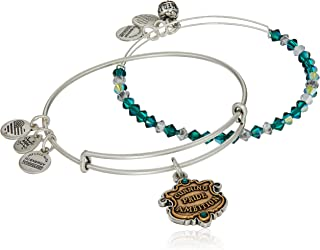 Alex and Ani Womens Harry Potter Slytherin Motto Set of 2 Two-Tone