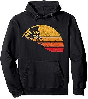 Mountain Bike Vintage MTB Downhill Biking Cycling Biker Gift Pullover Hoodie