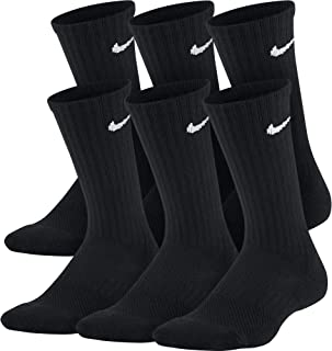 NIKE Kids' Everyday Cushion Crew Socks (6 Pairs)