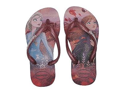 Havaianas Kids Slim Frozen Flip Flops (Toddler/Little Kid/Big Kid) (Autumn Rose) Girls Shoes