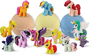 Bath Bombs For Kids with Surprise Inside Pony - Bath Bomb Kit with Toys - 3 Safe Organic Bath Balls For Girls - Gift Set For Teens, Kids, Baby