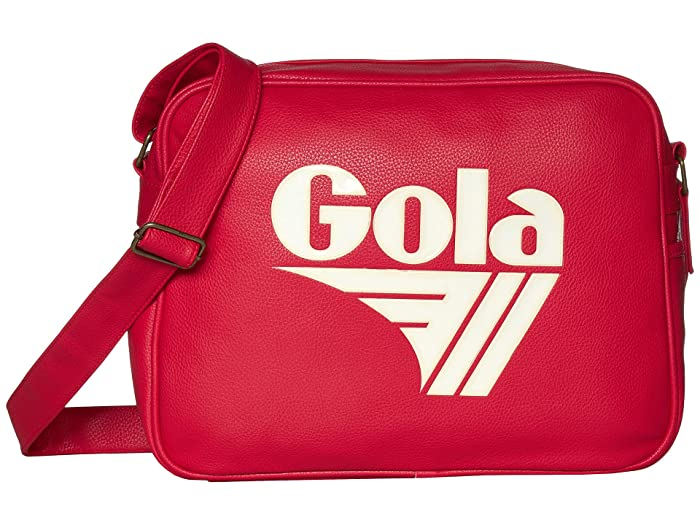 Vintage Handbags, Purses, Bags *New* Gola Redford Tournament RedOff-White Messenger Bags $60.00 AT vintagedancer.com