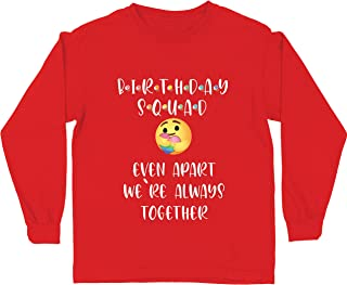 lepni.me Kids T-Shirt Quarantine Happy Birthday Squad Even Apart We are Together
