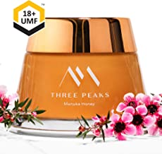 Three Peaks Manuka Honey New Zealand - Certified UMF 18+ - 7.05 oz (200gm) - 100% Natural honey, Raw honey – Ultra Premium, Healing Manuka honey