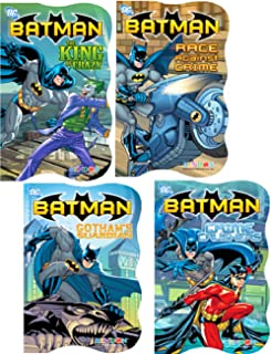 Superhero Board Books Ultimate Set Toddlers Kids -- 8 Shaped Board Books Featuring Batman, Superman, Spiderman and More