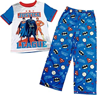 58c25ef29 Komar Kids Justice League Boys 2 Piece Soft Knit Red, White, and Blue Pajama