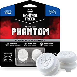 KontrolFreek FPS Freek Phantom for PlayStation 4 (PS4) and PlayStation 5 (PS5) | Performance Thumbsticks | 2 High-Rise Con...