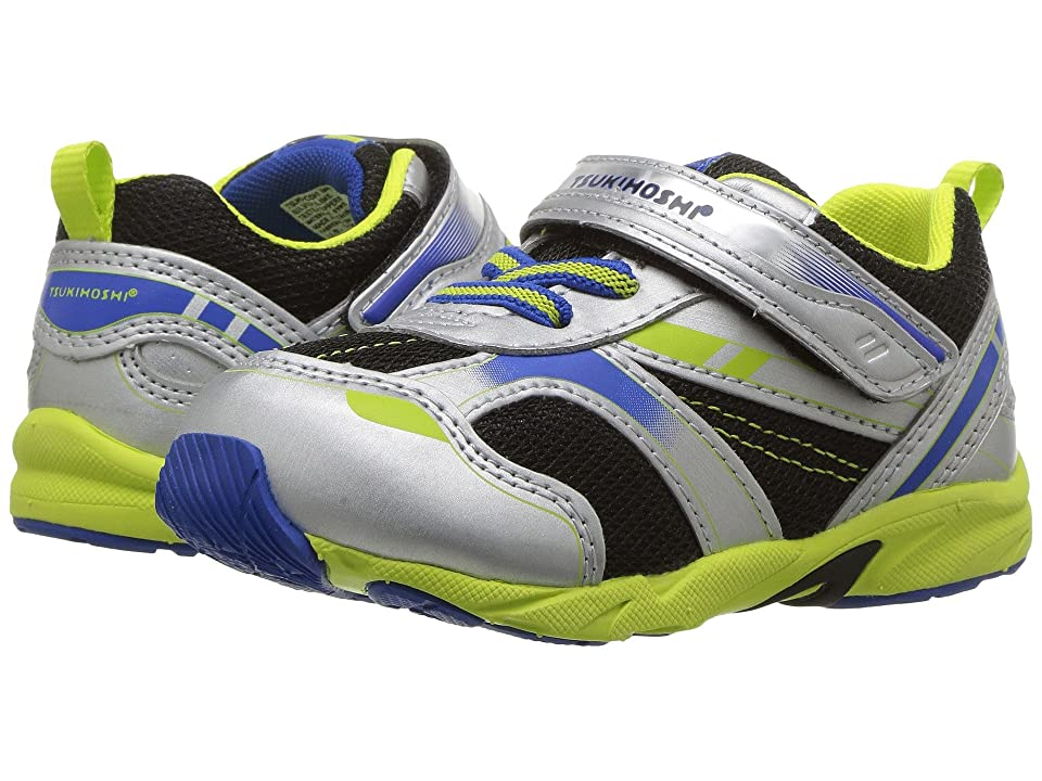 Tsukihoshi Kids Sport (Toddler) (Silver/Lime) Boys Shoes