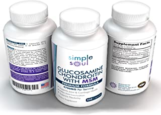 Glucosamine+Chondroitin+MSM Joint Relief&Mobility- Premium Sulfate Formula.