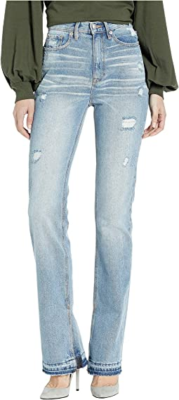 Denim All Over Distressed Bootcut Jeans
