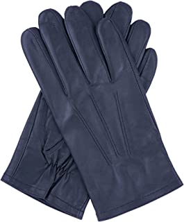 Dents Men's Leather Gloves With 3 Point Stitch Detail And Fleece Lining