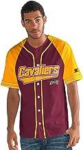 Starter Adult Men The Player Baseball Jersey, Maroon, Large