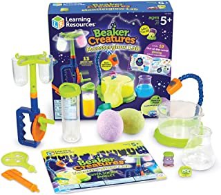 Learning Resources Beaker Creatures Monsterglow Lab, Science Exploration, Slime, STEM, Homeschool, Ages 5+