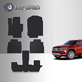 TOUGHPRO Floor Mat Accessories Set (1st + 2nd + 3rd Row) Compatible with Mercedes-Benz GLS450-2nd Row Bench - All Weather - Heavy Duty - (Made in USA) - Black Rubber - 2020, 2021, 2022