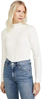 Women's Cable Front Mock Neck Sweater