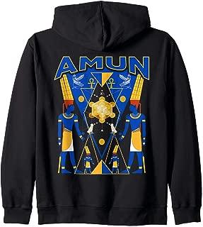 Amun platonic solid Sacred Geometry Zip Hoodie