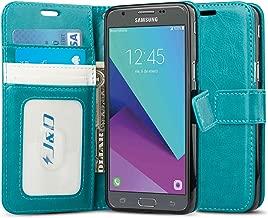 J&D Case Compatible for Galaxy J3 Emerge/J3 Prime/ J3 2017/J3 Eclipse/Sol 2/Amp Prime 2 Case, [Wallet Stand] [Slim Fit] Shock Resistant Flip Cover Wallet Case for Samsung Galaxy J3 Emerge Wallet Case