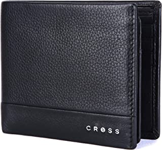 Cross Black Men's Wallet Stylish Genuine Leather Wallets for Men Latest Gents Purse with Card Holder Compartment (AC948799_3-1)