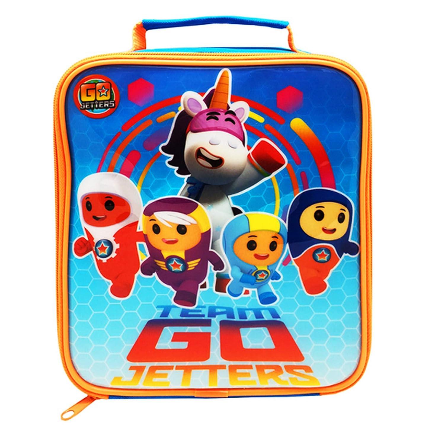 船乗りから更新ゴー、ジェッターズ オフィシャル商品 子供用 キャラクター ランチバッグ お弁当かばん