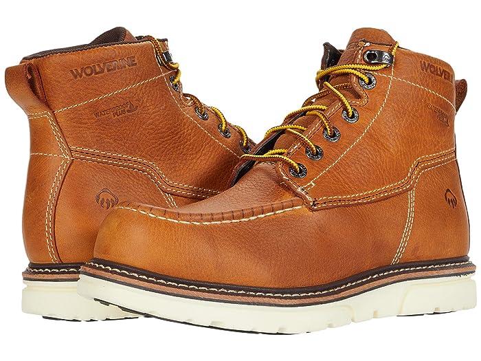 Wolverine  I-90 DuraShocks Moc-Toe 6 Work Boot (Tan) Mens Work Lace-up Boots