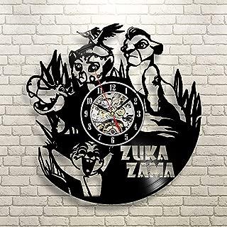 La Bella Casa Zuka Zama Lion Guard Wall Clock Original Wall Gift Vintage Gift Idea Funny Gift Nursery Gift Happy Birthday Gift Christmas Party Gift for Bbaies Kids Adults Youth