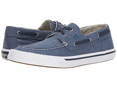 Sperry Bahama II Boat Washed Sneaker (Navy) Men